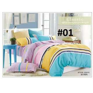4in1 COTTON BED SHEET SET .