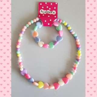 Toddler girl necklace and bracelet set - Design D