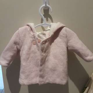 Purebaby Light Pink Hooded Jacket Size 000