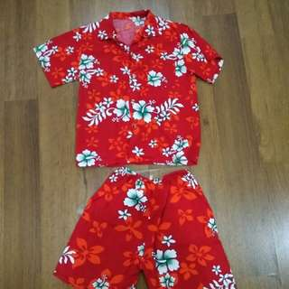 Boy beach wear/ Hawaii set
