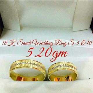 Saudi gold wedding ring