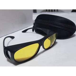 Yellow Night Vision Polarized Sunglasses Glasses NIGHT VISION, STYLISH, DURABLE, CLEAR AND COMFORTABLE