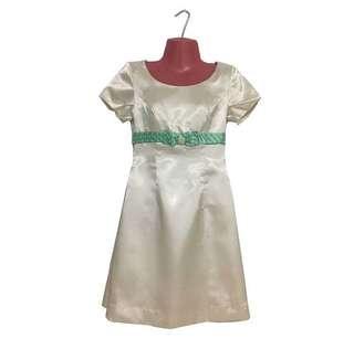 Vintage gazar dress with bow