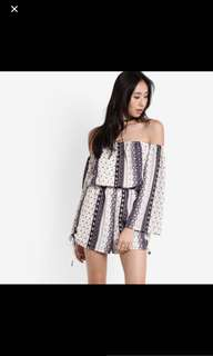 Zalora Tribal Off Shoulder Romper
