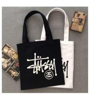 Stussy Canvas Shoulder Tote Bag