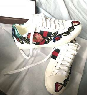 Gucci inspired - ACE EMBROIDERED LOW TOP SNEAKER