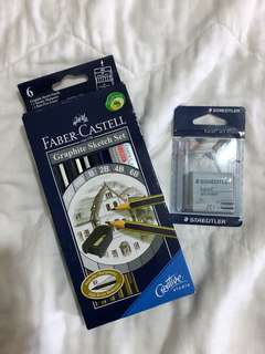 Faber Castel Graphic Pencils & Eraser Bundle