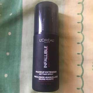 L'oreal INFALLIABLE Make-up extender setting spray