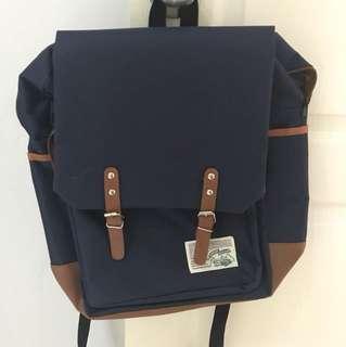 blue buckle backpack