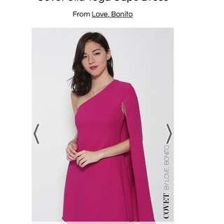 Love bonito covet ULLA toga cape dress