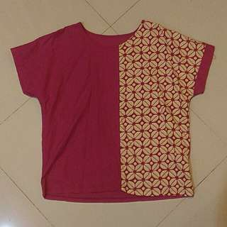 Fuschia batik top