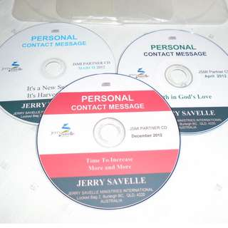 Charity Sale! Set of 3 Jerry Savelle Audio Digital CD teachings