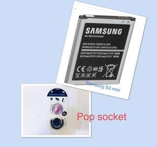 Samsung S3Mini Battery Class A bundle pop socket