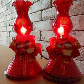 Wedding side lamps