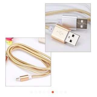 Iphone 充電器 apple 充電線 2條一起賣 金色