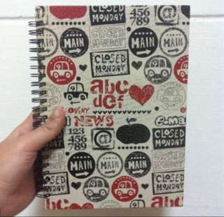 Prints Hardcover Notebook With Lines