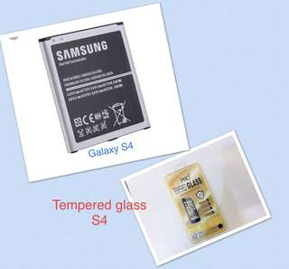 Samsung Galaxy S4 Battery Class A bundle S4 Tempered