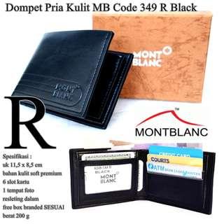 Dompet Kulit Pria Monblank code 349 R BLACK