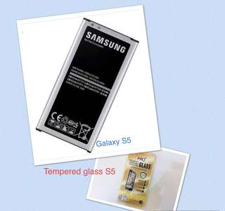Samsung Galaxy S5 Battery Class A bundle S5 tempered