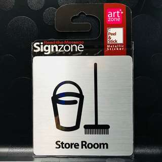 "Signage Metallic Sticker: ""STORE ROOM"""