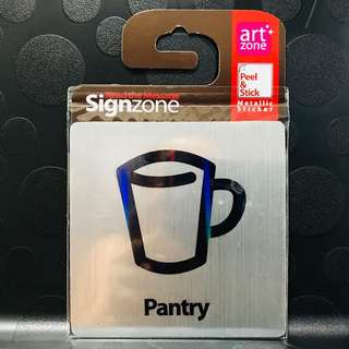 "Signage Metallic Sticker: ""PANTRY"""