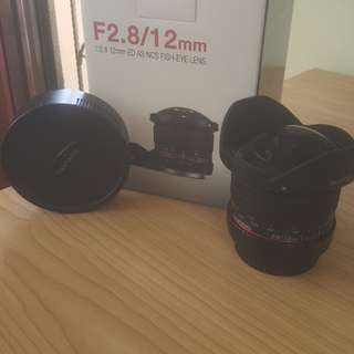 Samyang 12mm F/2.8 FISH-EYE LENS (canon mount)