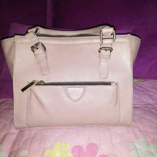 Zara hand bag peach