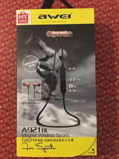 BNIB-Awei  A921 BL Magnet Wireless Sports Earphone