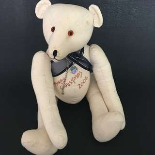 Hand sawn jointed teddy bear