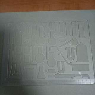 Chemistry apparatus stencil set