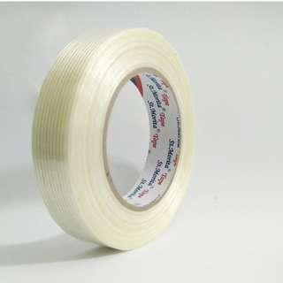 ST. MORITA - Filament Tape Mono Direction 24 mm - Clear Bagikan : ST Morita