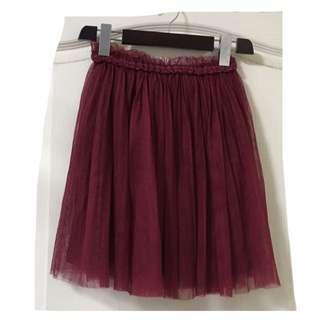 🚚 日本品牌 酒紅蕾絲紗裙
