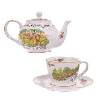 日本 迪士尼 白雪公主 Snow White 茶壺茶杯套裝
