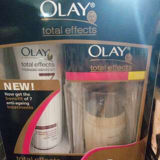 Olay anti aging cream and foaming cleanser
