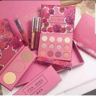 karrueche × colourpop fem rosa set Limited Edition