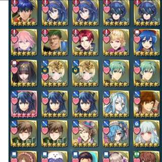70 5* Heroes 360k+ Feathers 170+ Stam/Arena Pots Tier 20 Fire Emblem Heroes Account