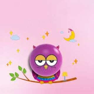 Owl Kids Wall Sticker LED Lamp Brand New