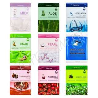 10 pcs Farmstay Visible Difference Essence Face Masks 🌸