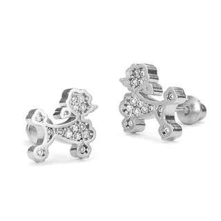 Earrings dog screwback earrings USA 925 sterling silver