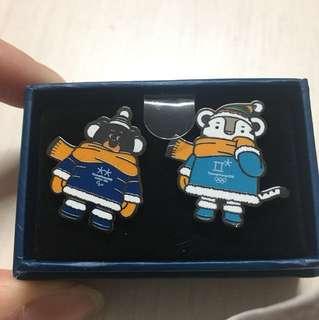 平昌冬奧 扣針 pin 連盒 olympic