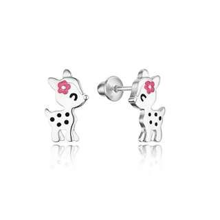 Children baby earrings 925 sterling silver screwbacking