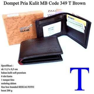 Dompet Cowok Monblank kulit code 349 T BROWN
