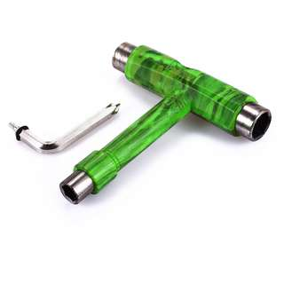 DIGITAL PRINTING SKATEBOARD TOOL ALL IN ONE SCREWDRIVER SOCKET MULTIFUNCTION SKATE T-TOOL (CL12) 11 x 10 x 2.2 cm