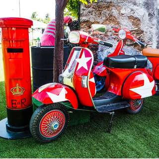 Red Vespa for Rent !