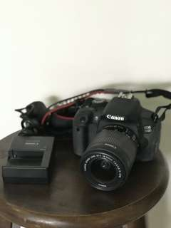 Canon 700d body + EFS 18-55mm lens