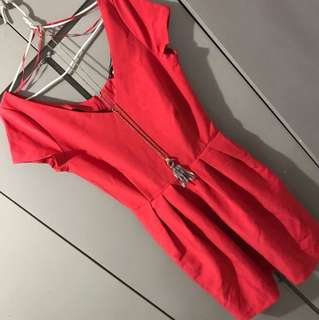 MANGO RED DRESS( repriced) FREESF