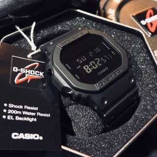 Original Authentic DW-5600BB G-Shock Classic Blackout Matte Series! Casio Sale Offer Brand New Full Box! Limited Stock First Come First Served 😎👍