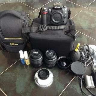 Kamera Nikon D90 Ful Set