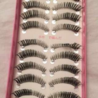 Mink eyelashes strips