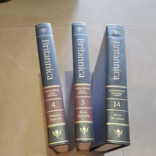 Full set of Britannica Encycopiedia for sale with Rack